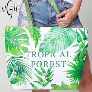 Handbags - 5🌟Tropical Lined Beach Bag/Tote